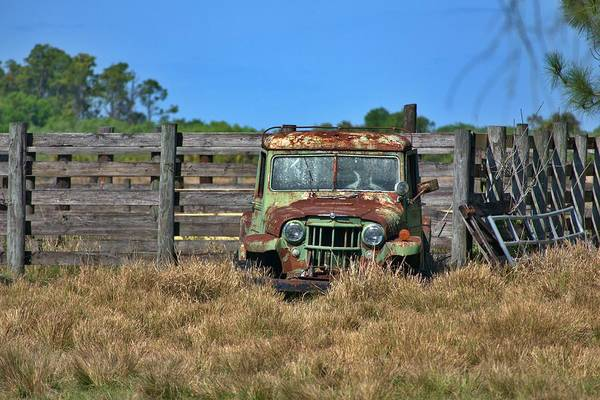 Photograph - Willys Rusting At The Ranch by Don Columbus