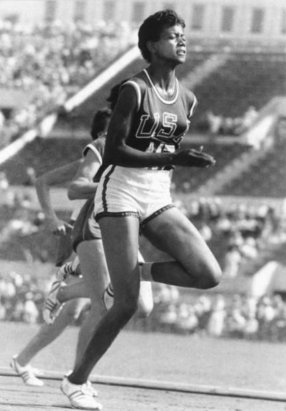 Wall Art - Photograph - Wilma Rudolph, American Athlete by Science Source