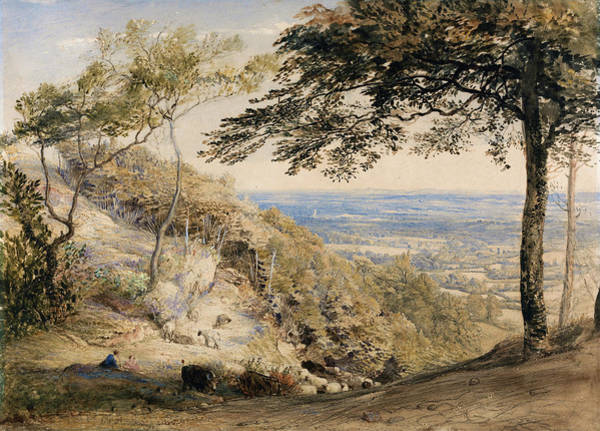 Wall Art - Painting - Wilmot's Hill, Kent - Digital Remastered Edition by Samuel Palmer