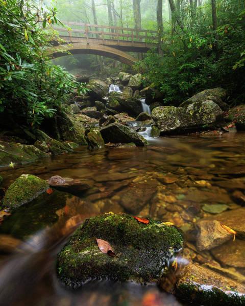 Wilson Creek Bridge Tanawha Trail - Blue Ridge Parkway Art Print