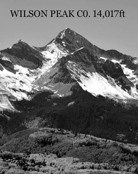 Fourteener Photograph - Wilson Peak Colorado Poster A by David Lee Thompson