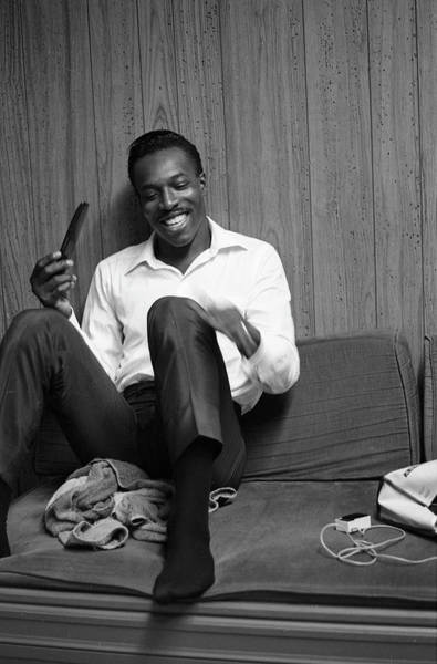 Apollo Theater Photograph - Wilson Pickett Backstage At The Apollo by Michael Ochs Archives