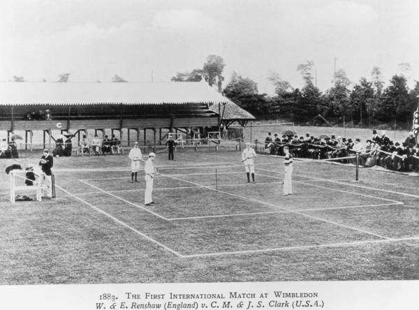 Court Photograph - Wimbledon 1883 by Hulton Archive