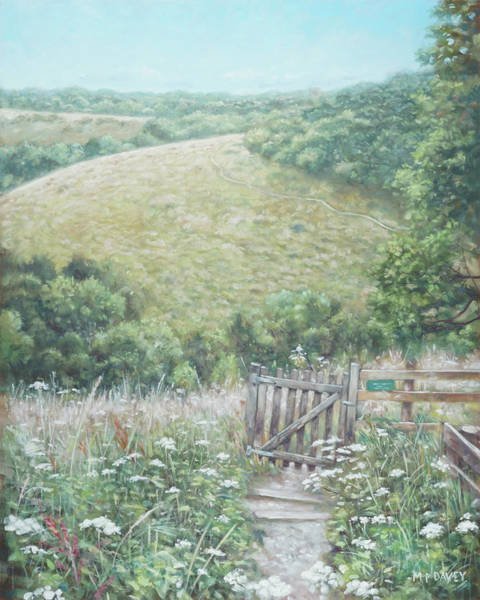 Painting - Winchester Hill Area In Hampshire During Summer by Martin Davey