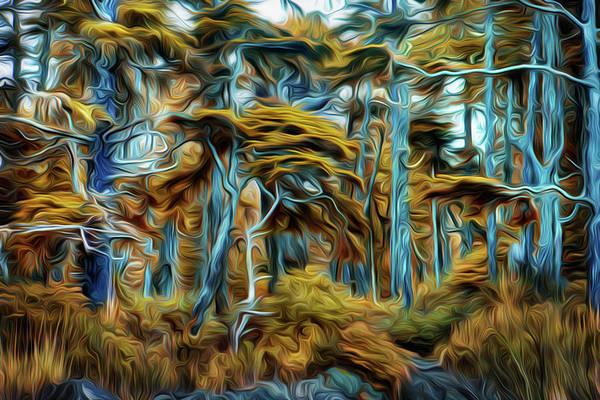 Wall Art - Digital Art - Wind Blown Trees by Naman Imagery