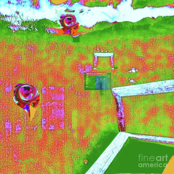 Wall Art - Mixed Media - Wind Croquet by Zsanan Studio