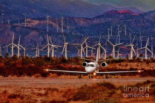 Photograph - Wind Energy Learjet  by Blake Richards