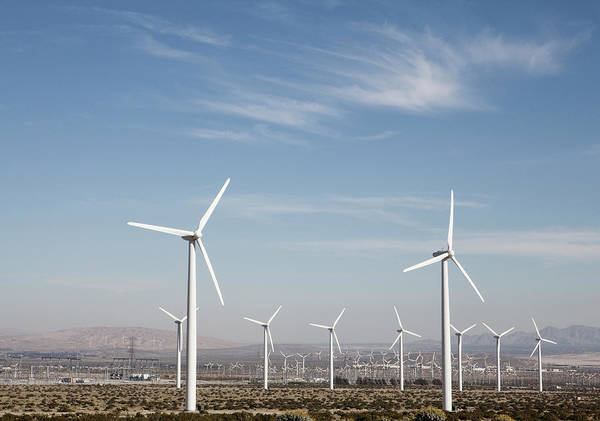 Environmental Issue Wall Art - Photograph - Wind Farm In The Dessert by Frank Rothe