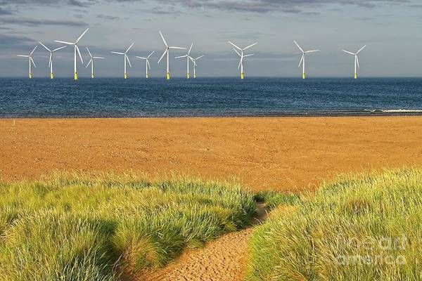 Photograph - Wind Farm Off Shore by Martyn Arnold