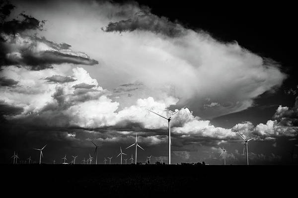 Wall Art - Photograph - Wind Farm Storm by Mike Cox