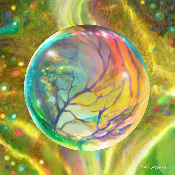 Digital Art - Wind In Wispy Willows by Robin Moline
