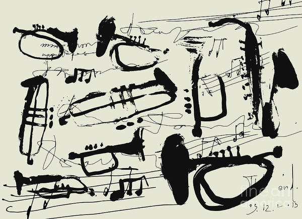 Wall Art - Digital Art - Wind Instruments by Dmitriip