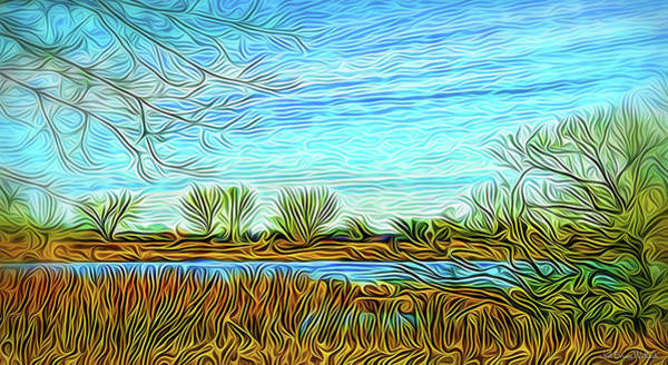 Digital Art - Wind Song Over Pond by Joel Bruce Wallach