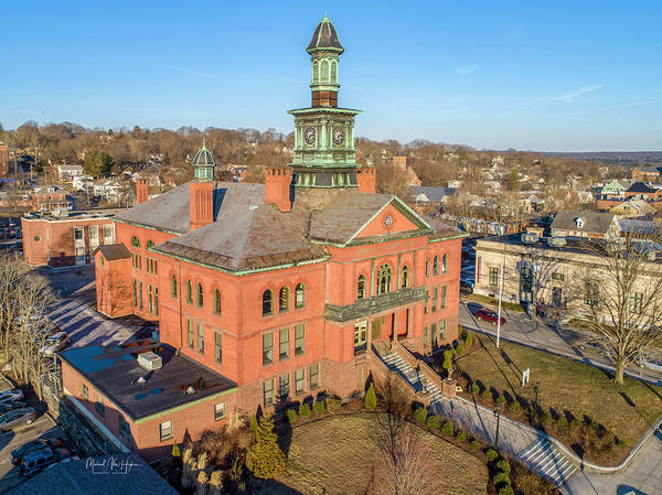 Photograph - Windham Town Hall by Michael Hughes