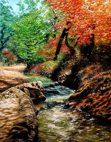 Painting - Winding Creek - Painting by Ashley Koebrick Schmidt