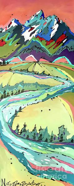 Painting - Winding by Nicole Gaitan