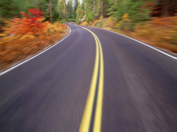 Tioga Photograph - Winding Road, Autumn Digital by Stuart Westmorland