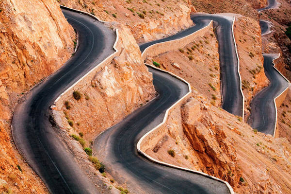 Thoroughfare Photograph - Winding Road With Hairpin Bends Up The by Mint Images/ Art Wolfe