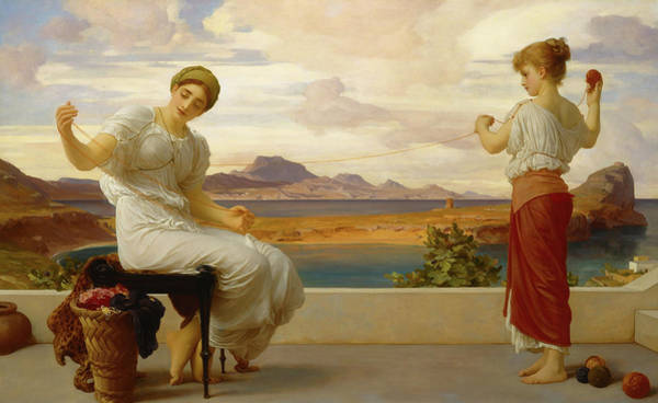 Wall Art - Painting - Winding The Skein, 1878 by Lord Frederic Leighton