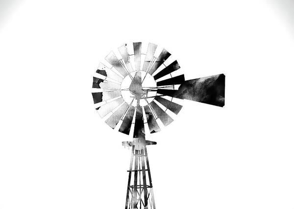 Photograph - Windmill 2 #blackandwhite by Andrea Anderegg
