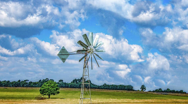 Wall Art - Photograph - Windmill Along The Way by Marcy Wielfaert