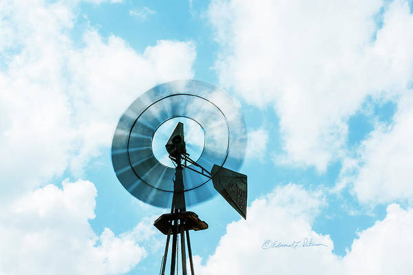 Photograph - Windmill And Bullet Holes by Edward Peterson