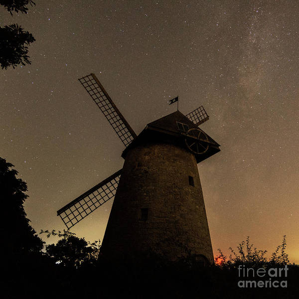 Photograph - Windmill And Milky Way by Clayton Bastiani
