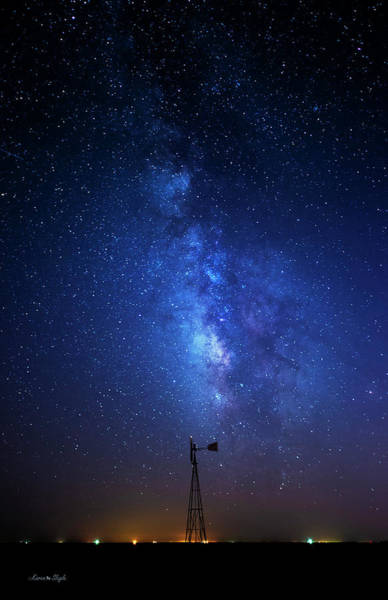 Photograph - Windmill And Milky Way by Karen Slagle
