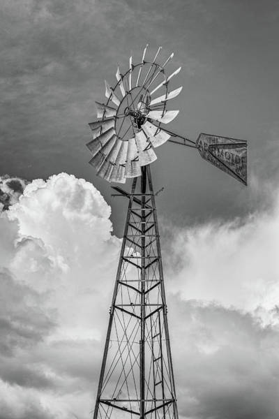 Photograph - Windmill As Storm Gathers by Randy Bayne