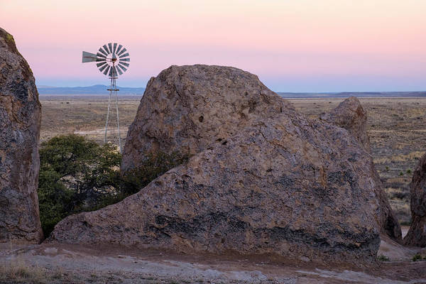 Photograph - Windmill At City Of Rocks New Mexico by Mary Lee Dereske