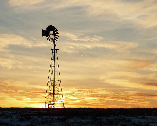 Photograph - Windmill At Sunset 02 by Rob Graham