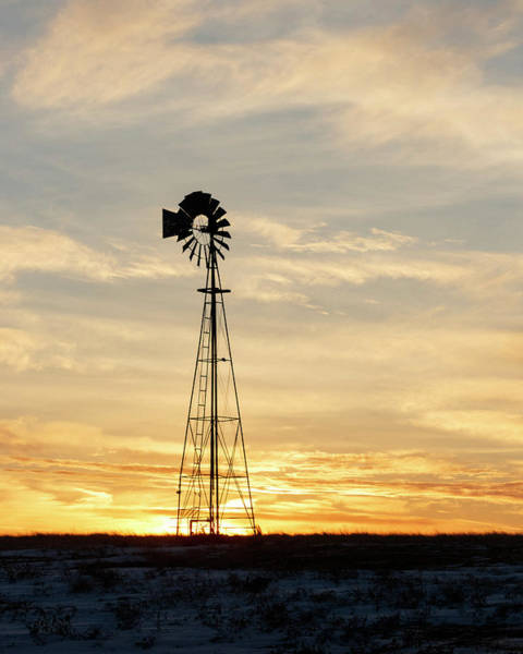 Photograph - Windmill At Sunset 03 by Rob Graham