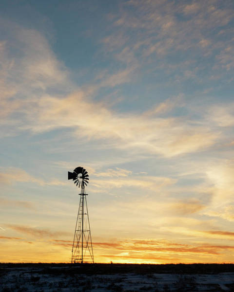 Photograph - Windmill At Sunset 06 by Rob Graham