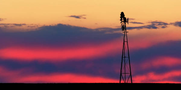 Photograph - Windmill At Sunset 07 by Rob Graham