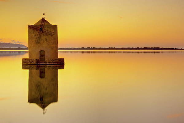 Photograph - Windmill At Sunset by By Andrea Pucci