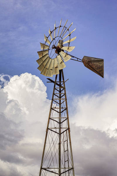 Photograph - Windmill Before The Storm by Randy Bayne