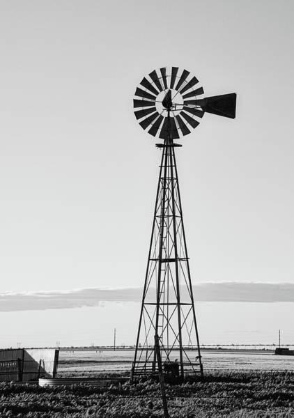 Photograph - Windmill #blackandwhite by Andrea Anderegg