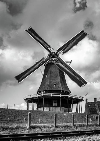 Photograph - Windmill by Framing Places