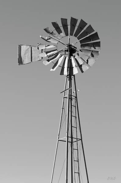 Photograph - Windmill IIi Bw by David Gordon