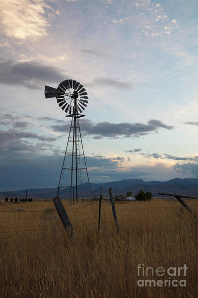 Wall Art - Photograph - Windmill In Evening by Idaho Scenic Images Linda Lantzy