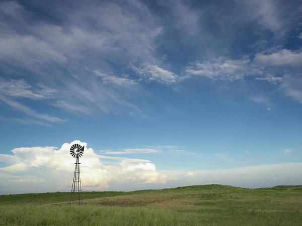 Nebraska Landscape Photograph - Windmill In Field by John Kelly