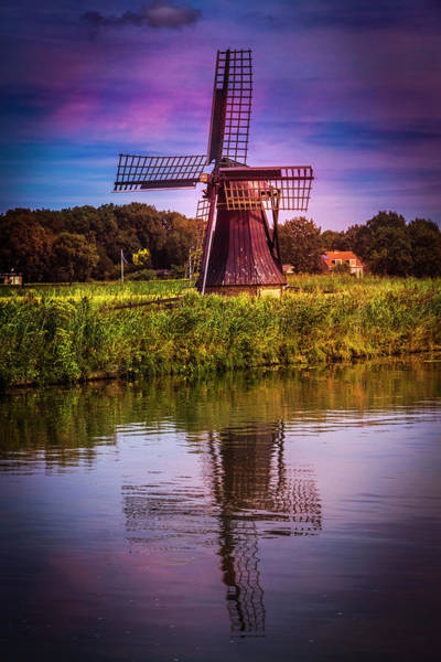Photograph - Windmill In The Early Morning by Debra and Dave Vanderlaan