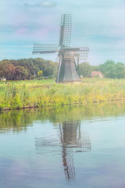 Wall Art - Photograph - Windmill On A Misty Morning by Debra and Dave Vanderlaan