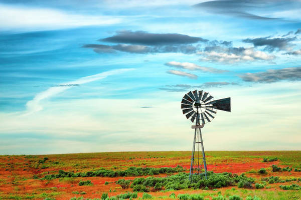 Photograph - Windmill On High Desert by Dee Browning