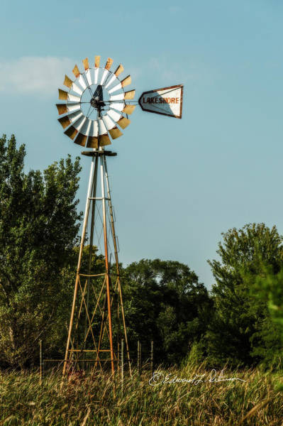 Photograph - Windmill Pump Out by Edward Peterson