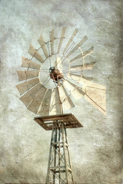 Prairie Home Digital Art - Windmill by Ramona Murdock