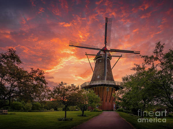 Wall Art - Photograph - Windmill Sunrise, Holland, Michigan by Liesl Walsh