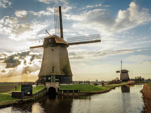 Photograph - Windmill Sunset Panorama by Framing Places