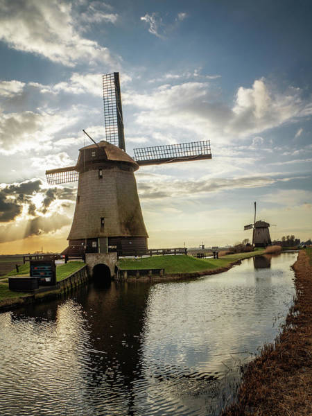 Photograph - Windmill Sunset Portrait by Framing Places