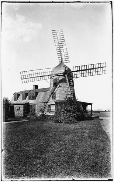 Photograph Photograph - Windmill by The New York Historical Society